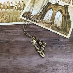 🌞COLETTE MALOUF Antique Gold Icicle Necklace